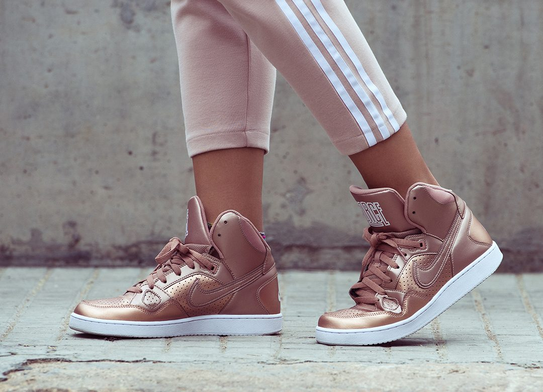 promo code 9b29d 32275 Nike Son of Force Mid Women s Shoes Rose Gold